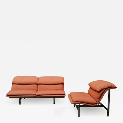 Giovanni Offredi Set of Wave sofa and armchair by Giovanni Offredi 1974