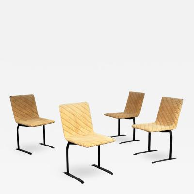 Giovanni Offredi Set of chairs by Giovanni Offredi for Saporiti 1970s