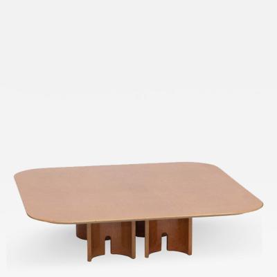 Giovanni Offredi Square Burl Coffee Table by Giovanni Offredi for Saporiti