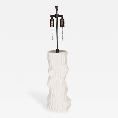 Giovanni Patrini Italian White Ceramic Tree Base Lamp