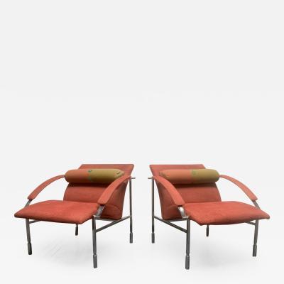 Giovanni Saporiti Pair of Saporiti Lounge Chairs