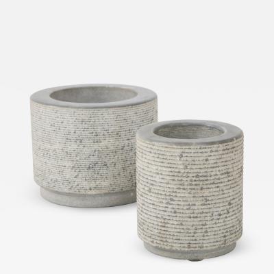 Giuliani Lazzotti Pair of Marble Vases by Giuliani Lazzotti Castigliani Turin Italy 1980 s