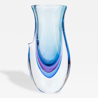 Giuliano Tosi Tricolor Murano Glass Vase