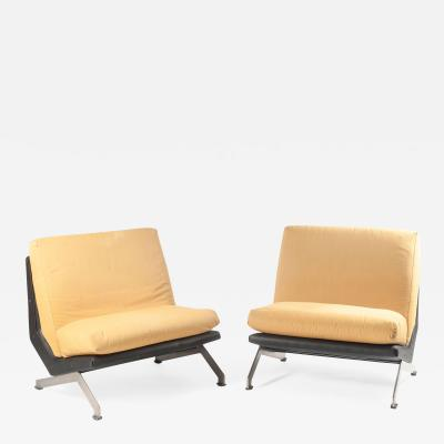 Giulio Moscatelli Pair of Armchairs by Giulio Moscatelli for Formanova Italy 1960s