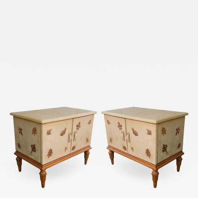 Giuseppe Anzani A pair of bedside tables attributed to Giuseppe Anzani Italy 50