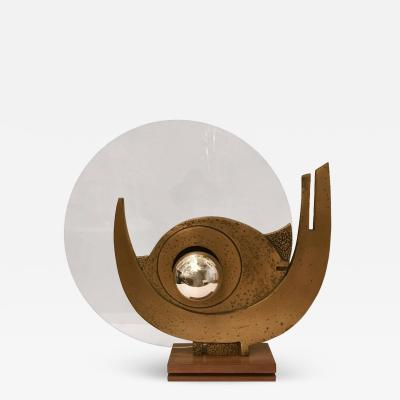 Giuseppe Calonaci Giuseppe Calonaci Bronze Sculpture 1960 Table Lamp