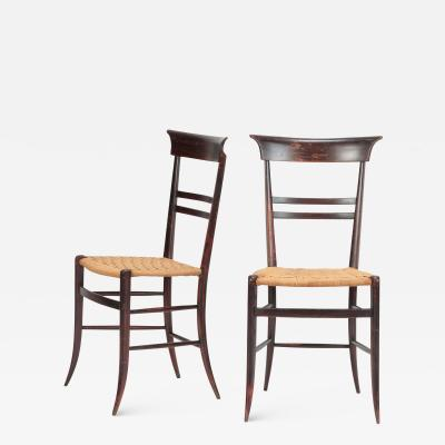 Giuseppe Gaetano Descalzi 2 Gaetano Descalzi Chairs Chiavari 50s