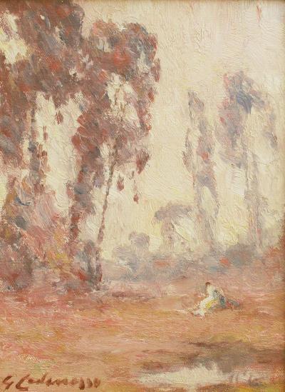 Giuseppe Leone Cadenasso Figure in Landscape