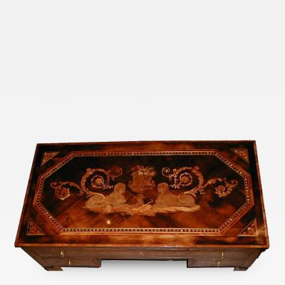 Giuseppe Maggiolini A North Italian Walnut and Fruitwood Marquetry Desk