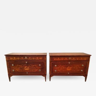 Giuseppe Maggiolini Pair of 18th Century Milanese Commodes Attributed to Giuseppe Maggiolini