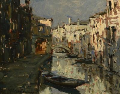 Giuseppe Marino Quiet Canal Venice
