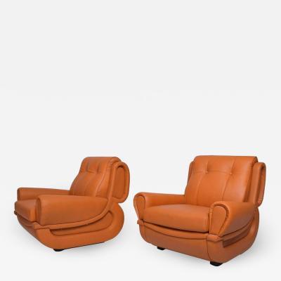 Giuseppe Munari Style Jean Michel Frank Art Deco Lounge Chairs by Guiseppe Munari Italy 1960s