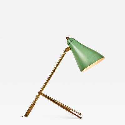 Giuseppe Ostuni 1950s Giuseppe Ostuni Ochetta Green Wall or Table Lamp for O Luce