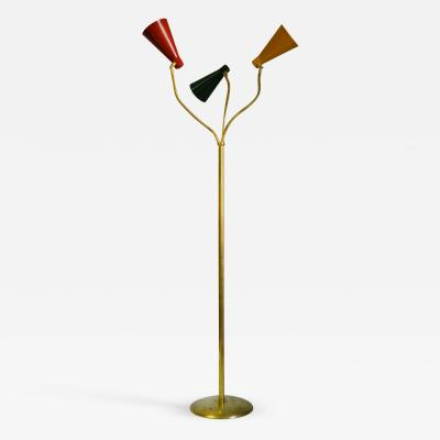 Giuseppe Ostuni Giuseppe Ostuni Floor Lamp for Oluce with 3 Adjustable Diffusers