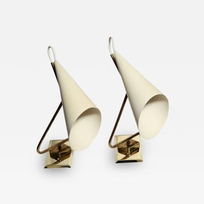 Giuseppe Ostuni Pair of Giuseppe Ostuni Sconces Made in Italy 1954