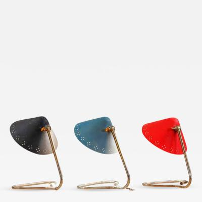 Giuseppe Ostuni Set of Three Scandinavian Mid Century Table Lamps
