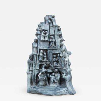Giuseppe Rossicone Tall Sculptural Nativity Scene 1960s