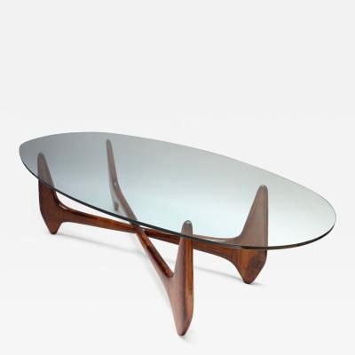 Giuseppe Scapinelli Brazilian Jacaranda 1960s Palacios Coffee Table by Scapinelli