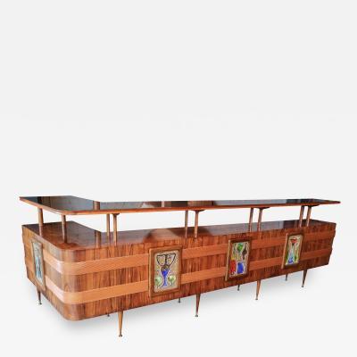 Giuseppe Scapinelli Long Brazilian Jacaranda Bar by Scapinelli