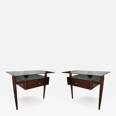 Giuseppe Scapinelli Pair of 1960s Nightstands by Giuseppe Scapinelli