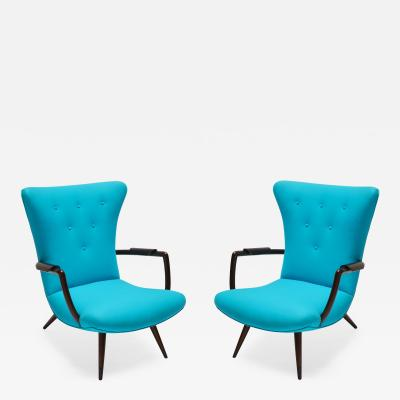 Giuseppe Scapinelli Pair of Brazilian Paulistana Armchairs in the Style of Scapinelli
