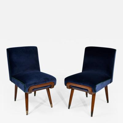 Giuseppe Scapinelli Pair of slipper chairs