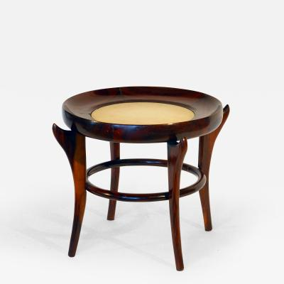 Giuseppe Scapinelli Rare Maracana Brazilian Jacaranda Side Table by Guiseppe Scapinelli