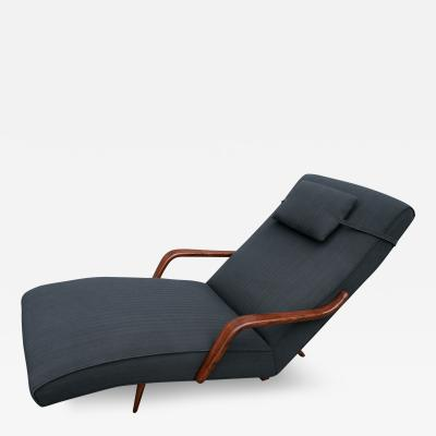 Giuseppe Scapinelli Scapinelli 1960s Brazilian Rosewood Chaise Longue