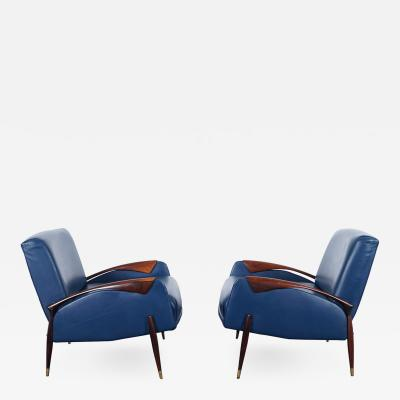 Giuseppe Scapinelli Vintage Brazilian Rosewood Lounge Chairs by Scapinelli