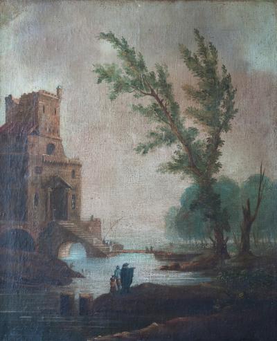 Giuseppe Zais ITALIAN LANDSCAPE IN THE MANNER OF GIUSEPPE ZAIS Circa 1790