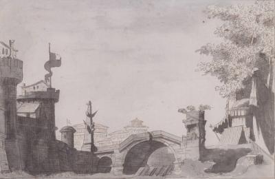 Giuseppino Galliari Design for Stage Set