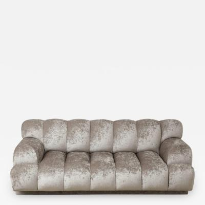 Glamorous Channel Tufted Sofa by Steve Chase