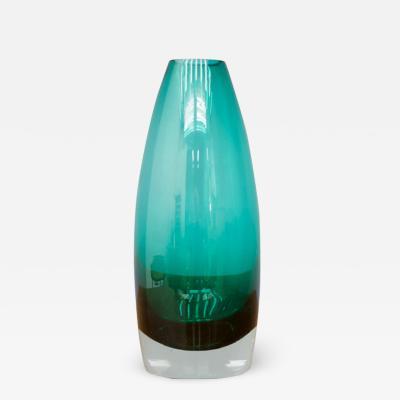 Glas Vase by Tamara Aladin for Riihimaki Lasi Oy Finland 1960