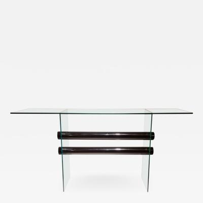 Glass Console Table by Pace Collection