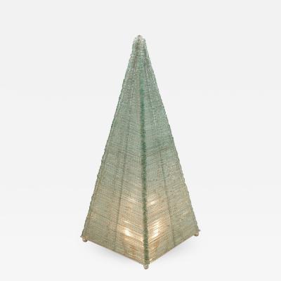 Glass Sculptural Pyramid Floor Light