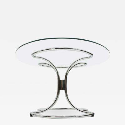 Glass and Steel Tube Dining Table by Giotto Stoppino Italy 1960 s
