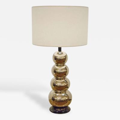 Glaze Ceramic Stacked Ball Table Lamp