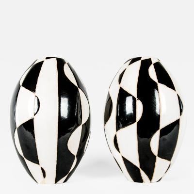 Glazed Ceramic Art Deco Piece Vase
