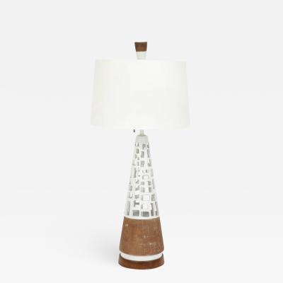 Glazed and Raw Terracotta Lamp