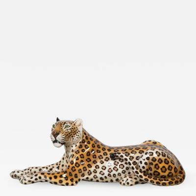 Glazed ceramic Leopard 20th Century