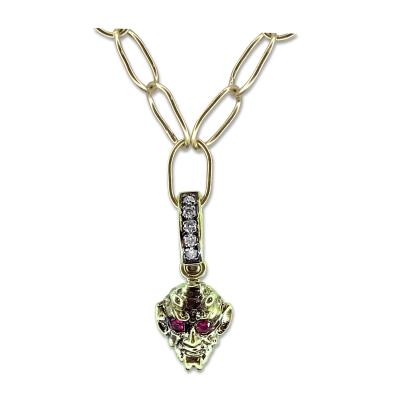 Glenn Bradford Fine Jewelry 18kt Green Gold Little Devil Ruby Charm