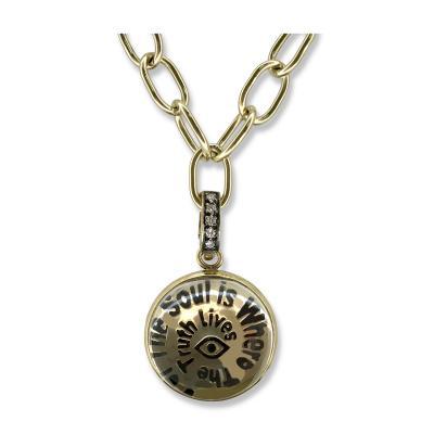 Glenn Bradford Fine Jewelry 18kt Green Gold Truth Word Art Charm