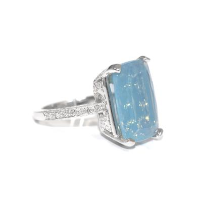 Glenn Bradford Fine Jewelry Amazon Milky Blue Opal