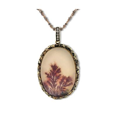 Glenn Bradford Fine Jewelry Dendritic Agate Heaven Earth Charm