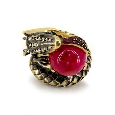 Glenn Bradford Fine Jewelry Fire Breathing Dragon Ring 2