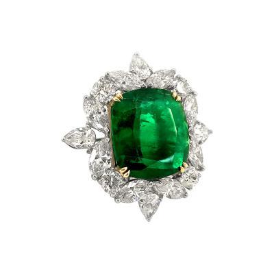 Glenn Bradford Fine Jewelry Important One of a kind Platinum Emerald Cocktail Ring