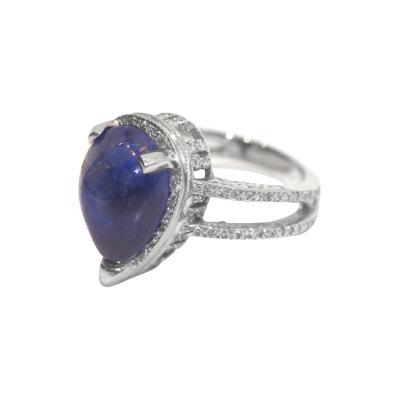 Glenn Bradford Fine Jewelry Pear Sapphire Pave Diamond Ring