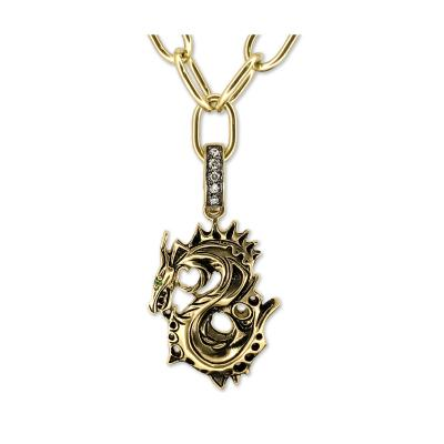 Glenn Bradford Fine Jewelry Small 18kt Green Gold Dragon Charm
