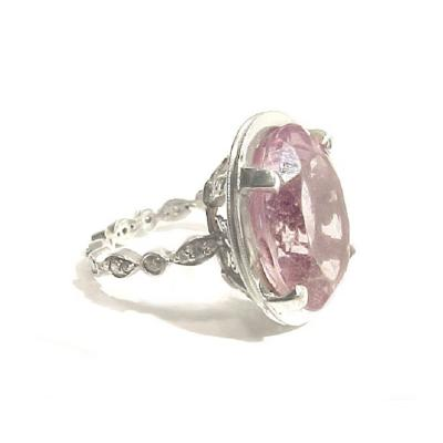 Glenn Bradford Fine Jewelry The Rebecca Pink Amethyst Cocktail Ring