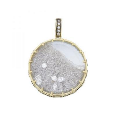 Glenn Bradford Fine Jewelry White Diamond Diamond Dust Charm